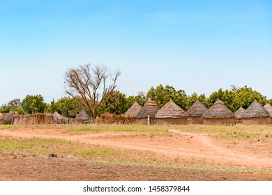 A traditional tuareg village of Niger in the road of Niamey to Agadez