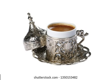Traditional Turkish Coffee served