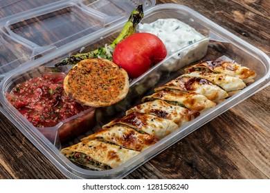 Traditional Turkish Cuisine Beyti Kebab Istanbul, Turkey. Food Takeaway