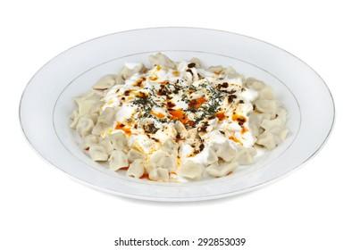 Traditional Turkish cuisine - Manti