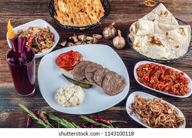 Traditional Turkish cuisine meatballs. Sivas meatballs.