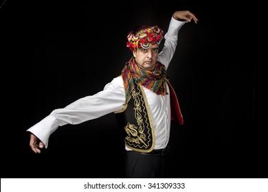 Traditional Turkish Dancer Zeybek