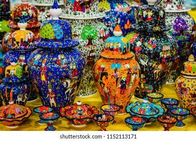 Traditional Turkish decorative ceramics for interior decoration