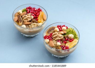 Traditional Turkish dessert ashure, close-up (Noah's Pudding)