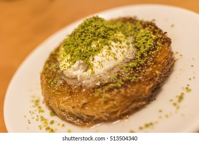 Traditional Turkish Dessert Kunefe