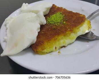 "Traditional Turkish dessert ""kunefe"""