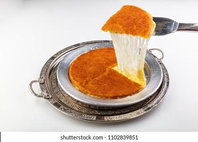 Traditional Turkish Dessert Kunefe (kadayif)