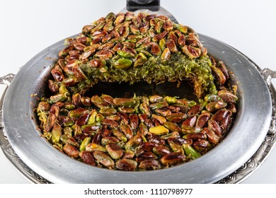 Traditional Turkish Dessert Kunefe/ Kunefe. The Turkish name is ''Fistikzade Kunefe ''.