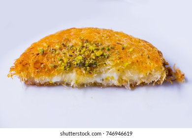 Traditional Turkish Dessert (Künefe) with White Background