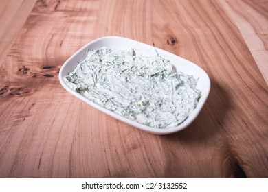 "Traditional Turkish Dip Sauce or Meze. It's name is ""Haydari"" or ""Cacik"" It's Made with Yogurt."