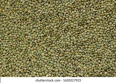 Traditional Turkish Domestic Green Lentil Background,flat layout.