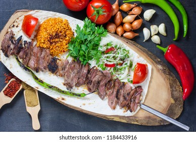 traditional turkish food cag kebab