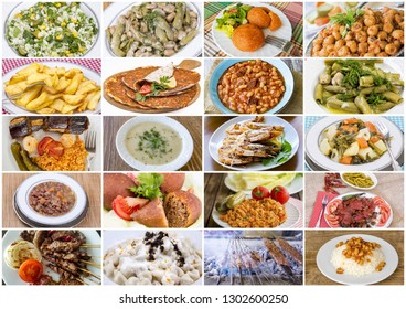 Traditional Turkish food collage