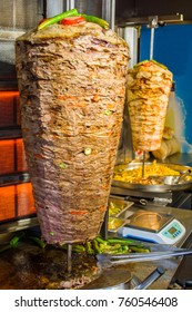traditional turkish food doner kebab in a street