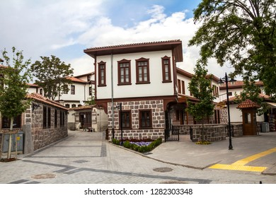 traditional Turkish houses in Ankara, Turkey.