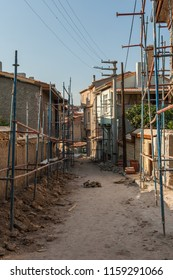 Traditional Turkish houses waiting for restoration and renovation in Eskisehir