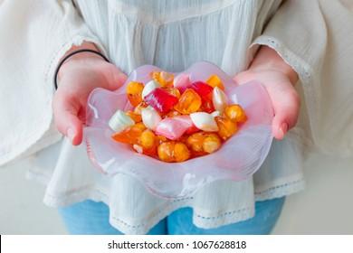 Traditional Turkish Ramadan Sweet Sugar Candy - Colorful Akide Sekeri