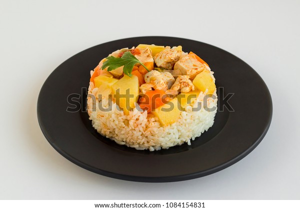Traditional Turkish Rice Food Chicken Meat Stock Photo Edit