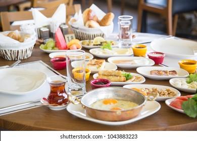 Traditional Turksh breakfast