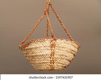 Traditional UAE handmade weaved basket