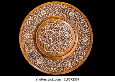 Traditional uzbek wooden ornaments