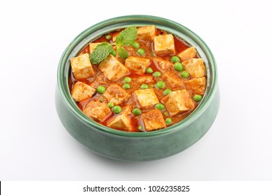 Traditional vegetarian curry paneer matar sabji masala/paneer butter masala indian cuisine