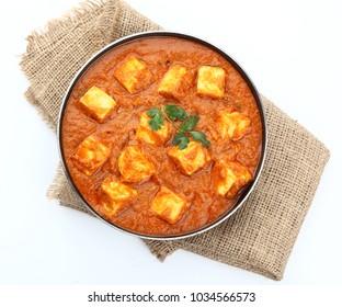 traditional vegetarian curry paneer matar sabji masala