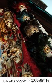 Traditional Venetian masks for masquerade.