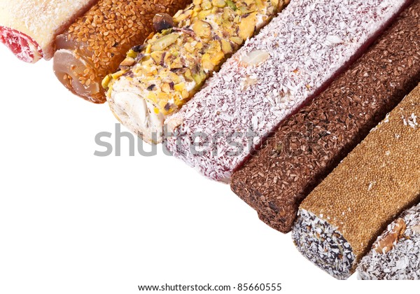 Traditional very fresh and sweet Turkish delight