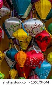 Traditional Vietnamese lamps, Hoi An, Vietnam.