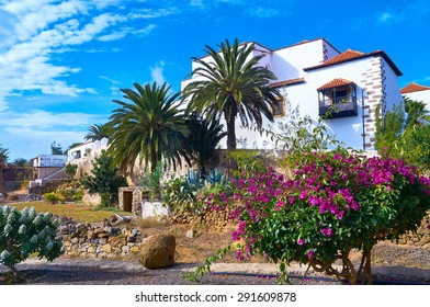Traditional villa in Betancuria, an old capital of Fuerteventura, Canary islands, Spain