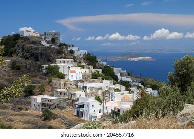 Traditional village of Emborios at Nisyros island in Greece