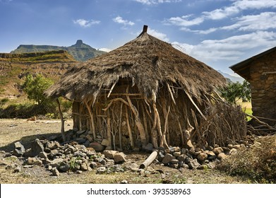 Traditional village house, Ethiopia, Africa