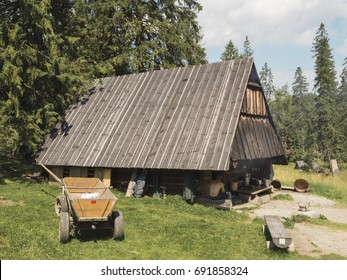 Traditional village house in the forest