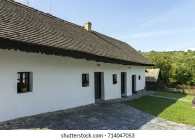Traditional village house in Holloko, Hungary.