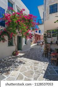 Traditional village named chalki in Naxos island, Greece!