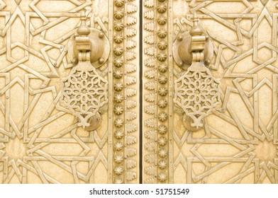 Traditional vintage detail of door, Morocco