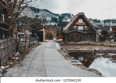 Traditional Wada House in Shirakawa-go, one of the world herritage, during the spring