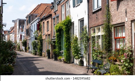 Traditional Walstraat in Deventer, Netherlands