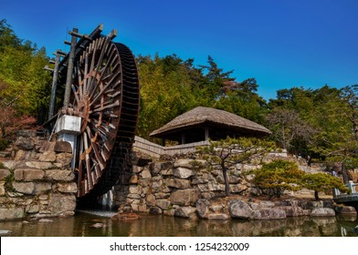 Traditional Water Spinning Wheel in South Korea