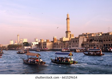 Traditional water taxi on the Creek in Dubai