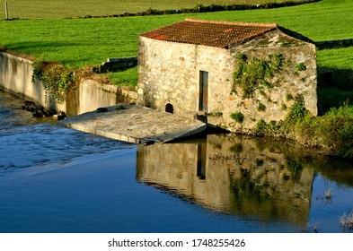 Traditional watermills on the Ave river, Portugal