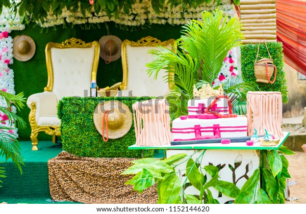 Traditional Wedding Decoration Edo Tribe Nigeria Stock Photo (Edit ...
