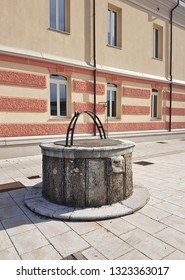 Traditional well in Miren, Slovenia