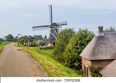 Traditional windmill in Waardenburg, Gelderland, the Netherlands