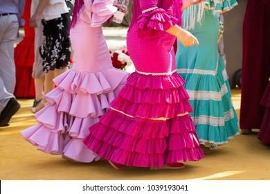 traditional woman flamenco skirt