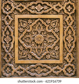 Traditional wood carving, Uzbekistan