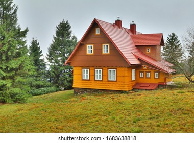 Traditional wooden cottage in Czech republic