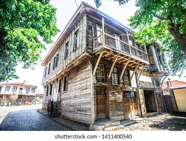 Traditional wooden house in the old city of Sozopol Bulgaria,Sozopol Bulgaria,May 29 2019