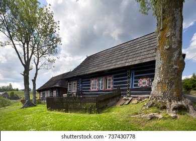 traditional wooden house, Slovakia
